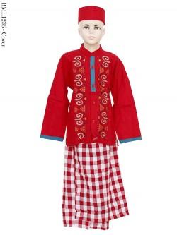BML1236 (4-6) Baju Koko Anak Celana Sarung