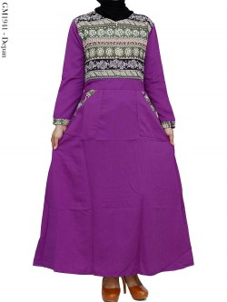 GM1941 Gamis Balotelly Mix Batik Songket