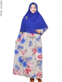 GKS1523 Gamis Syari Misby Hijab Wolfis Press