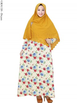 GKS1526 Gamis Syari Misby Hijab Syiria Press