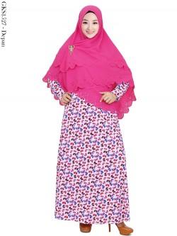 GKS1527 Gamis Syari Misby Hijab Bubble Susun