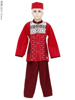 BML1241 (7-12) Baju Koko Anak Katun Bordir