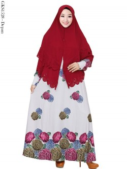 GKS1528 Gamis Syari Misby Hijab Bubble Susun