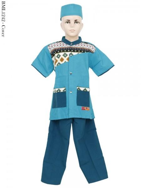 BML1244 (4-6) Baju Koko Anak Katun Bordir
