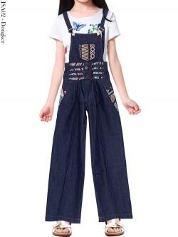 JSA02 Jumpsuit kulot Anak Jeans List Motif