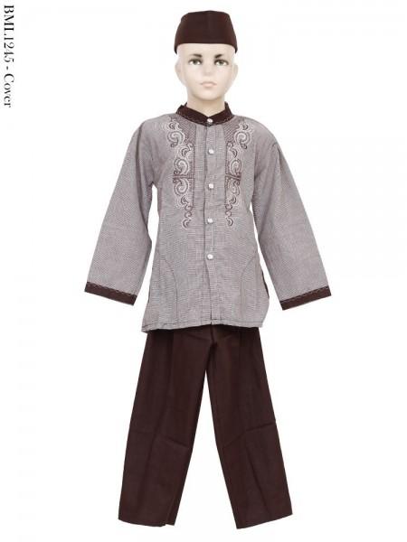 BML1245 (4-6) Baju Koko Anak Katun Bordir