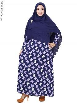 GKS1539 Gamis Syari Misby Hijab Bubble Susun