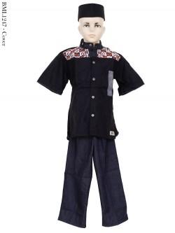BML1247 (4-6) Baju Koko Anak Dennim Bordir