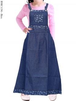 BMC1596 Overall Jeans Anak Tanggung
