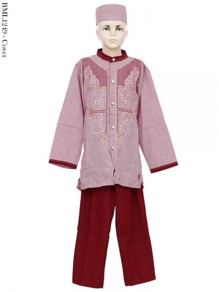 BML1249 (13-15) Baju Koko Anak Katun Bordir