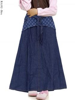 RA182 Rok Jeans Anak Motif List Kotak