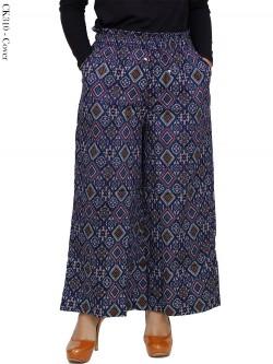 CK310 Celana Kulot Batik Songket Katun Stretch