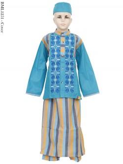 BML1251 (10-12) Baju Koko Anak Celana Sarung