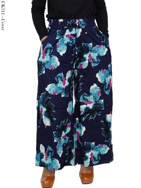 CK311 Celana Kulot Batik Bunga Katun Stretch