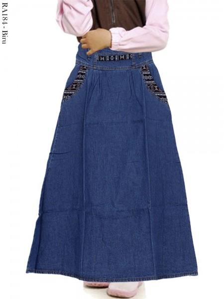 RA184 Rok Jeans Anak List Songket