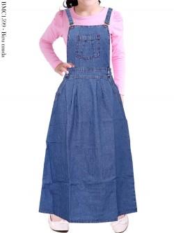 BMC1599 Overall Jeans Anak Tanggung