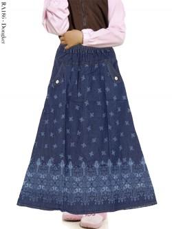 RA186 Rok Jeans Anak Motif Batik