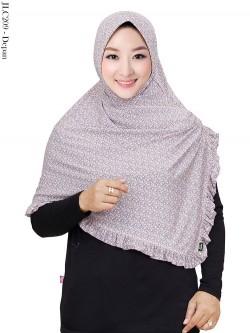 JLC209 Jilbab Jersey Motif Belah Rempel
