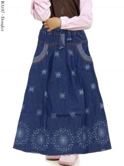 RA187 Rok Jeans Anak Motif Batik