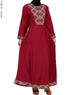 GM1951 Gamis Balotelly Mix Batik Songket