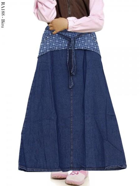 RA188 Rok Jeans Anak Motif List polkadot