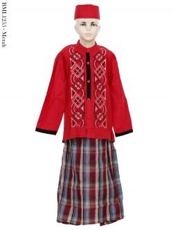 BML1255 (4-6) Baju Koko Anak Celana Sarung