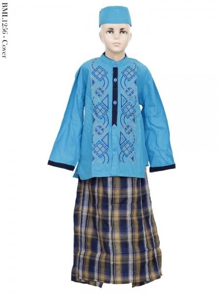 BML1256 (10-12) Baju Koko Anak Celana Sarung