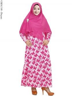 GKS1548 Gamis Syari Misby Hijab Wolfis Press