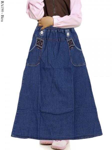 RA190 Rok Jeans Anak List Songket