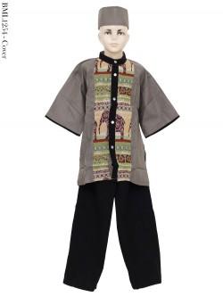 BML1254 (13-15) Baju Koko Anak Katun Songket