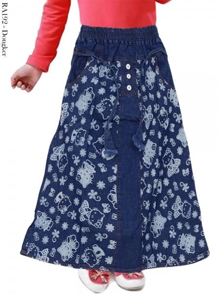 RA192 Rok Jeans Anak Motif Hellokitty