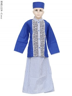 BML1258 (4-6) Baju Koko Anak Celana Sarung Salur