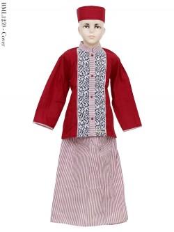 BML1259 (7-12) Baju Koko Anak Celana Sarung