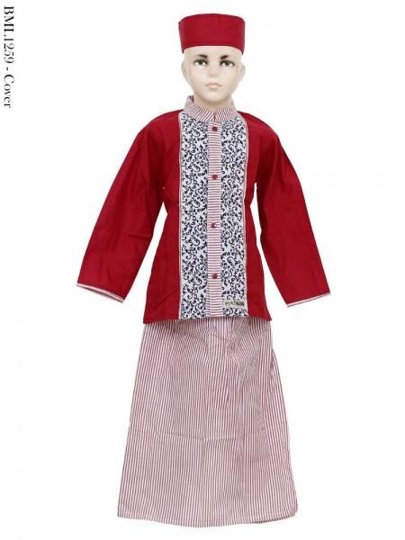 BML1259 (10-12) Baju Koko Anak Celana Sarung