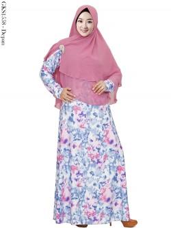 GKS1558 Gamis Syar'i Jersey Hijab 2 Layer