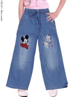 CKA13 Celana Kulot Jeans Anak Bordir