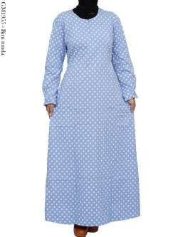 GM1955 Gamis Katun Stretch Polka