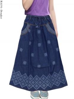 RA194 Rok Jeans Anak Motif Batik
