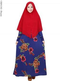 GKS1562 Gamis Syari Misby Hijab Wolfis Press