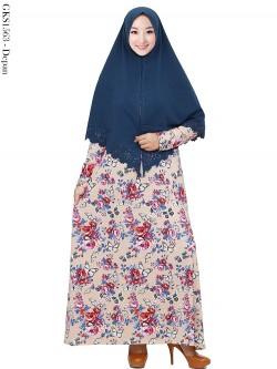 GKS1563 Gamis Syari Misby Hijab Wolfis Press