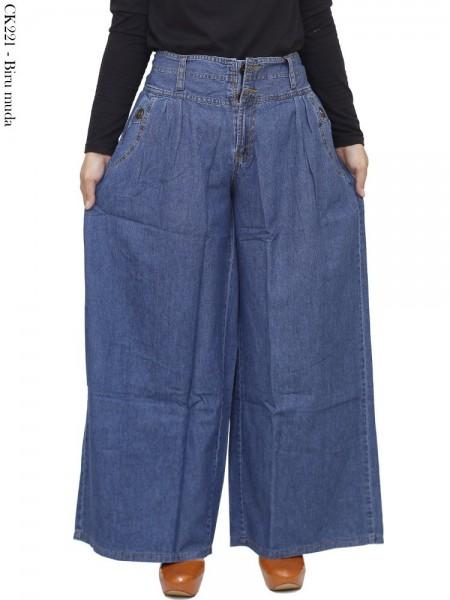 CK221 Celana Kulot Jumbo Jeans Polos
