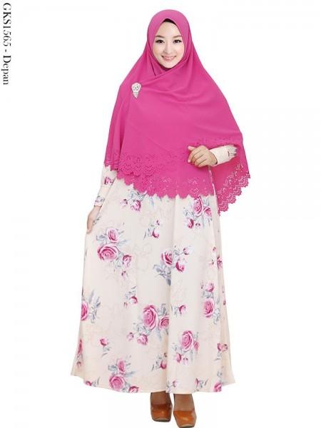 GKS1565 Gamis Syari Misby Hijab Syiria Press