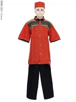 BML1263 (13-15) Baju Koko Anak Katun Songket