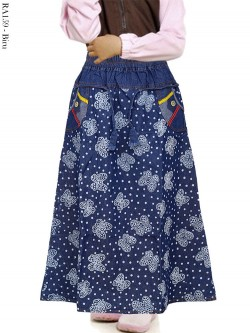 RA159 Rok Jeans Anak Motif buterfly