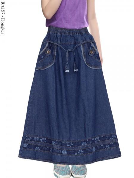 RA197 Rok Jeans Anak List Motif