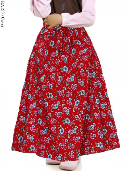 RA193 Rok Anak Katun Linen Umbrella Bunga