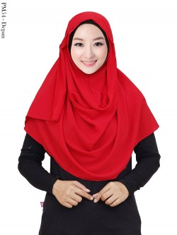 PM54 Pashmina Instan Bubble Tali Rumbai