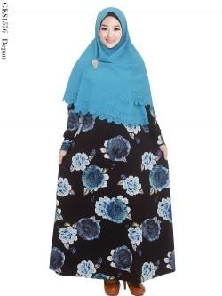 GKS1576 Gamis JUMBO Syari Misby Hijab Syiria Press