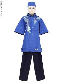 BML1264 (13-15) Baju Koko Anak Katun Bordir