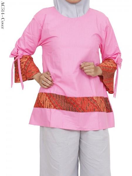 AC514 Atasan Blus Katun Mix Batik